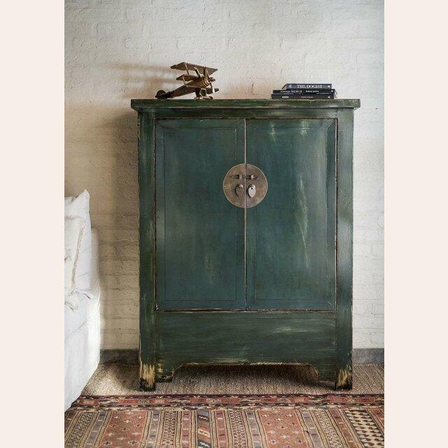 mueble chino verde oscuro verde ingles