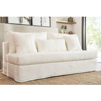 SILLON MANUELA - FUNDA LAVABLE JEAN BLANCO