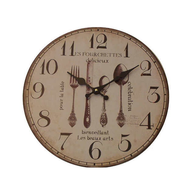 Reloj con lamina cubiertos antiguos - Paragueros antiguos ...