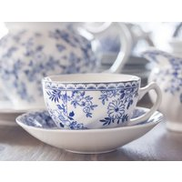TAZA DE TE CON PLATO JOHNSON BROS - DEVON COTTAGE