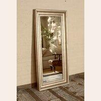 espejo biselado con marco plata vieja cuerpo entero