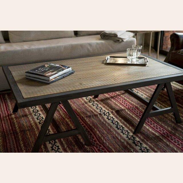 Mesa living con caballetes de hierro - Caballetes de hierro ...