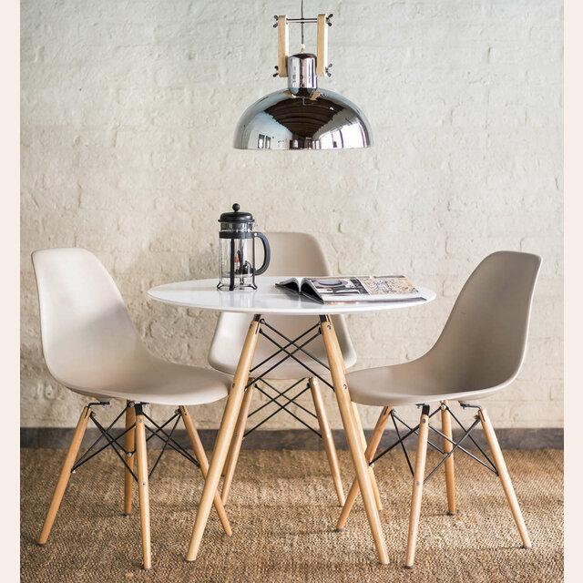 Mesa comedor redonda blanca eames - Muebles eames ...