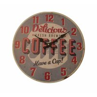 RELOJ CON LAMINA - DELICIOUS COFFEE
