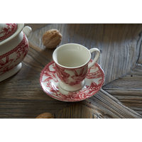 TAZA CAFE CON PLATO RED DOVE
