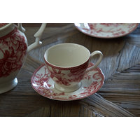 TAZA DE TE CON PLATO JOHNSON BROS - RED DOVE