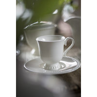 TAZA CAFE CON PLATO QUALITIER LUXE - BORDE PERLADO