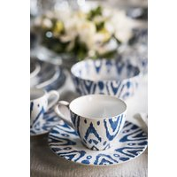 TAZA DE CAFE CON PLATO BLUE WATER
