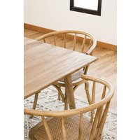 SILLA WINDSOR - OLMO Y RATTAN NATURAL