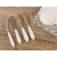 SET 4 ESPATULAS DE COPETIN - WHITE BONE