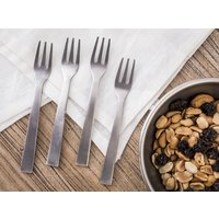 SET 4 TENEDORES DE COPETIN - ANTIQUE SILVER