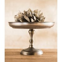 FUENTE CON PIE - ANTIQUE SILVER